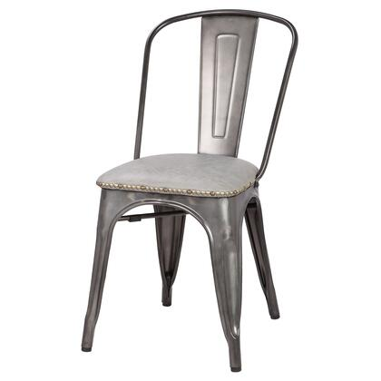 9300027-239 Metropolis PU Leather Metal Side Chair Set of 4  in Vintage Mist