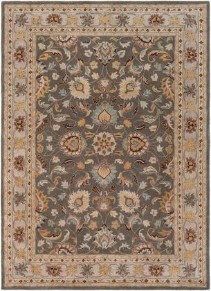 Caesar CAE-1005 8′ x 11′ Rectangle Traditional Rugs in Charcoal  Khaki  Bright Yellow  Light Gray  Taupe  Camel  Dark Brown  Medium