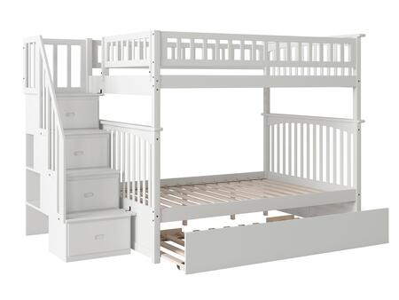 Atlantic Furniture Columbia AB55852 Bed White, AB55852 SILO DETAIL(HW)