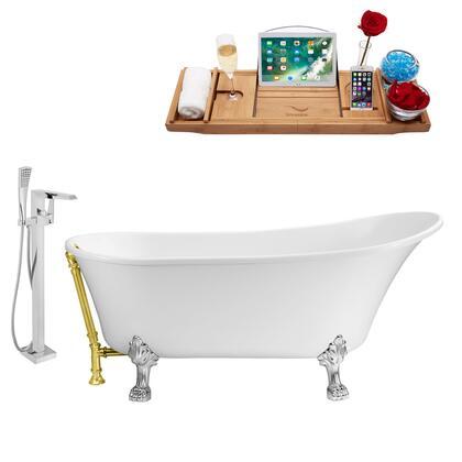 Streamline NH340CHGLD100 Bath Tub, NH340CH GLD 100 1T