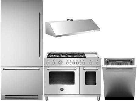 Bertazzoni  978675 Kitchen Appliance Package Stainless Steel, 1