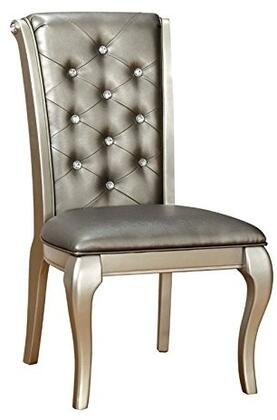 Furniture of America Amina CM3219SC2PK Dining Room Chair Silver, Main Image