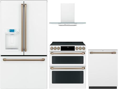 Cafe  1065312 Kitchen Appliance Package White, main image