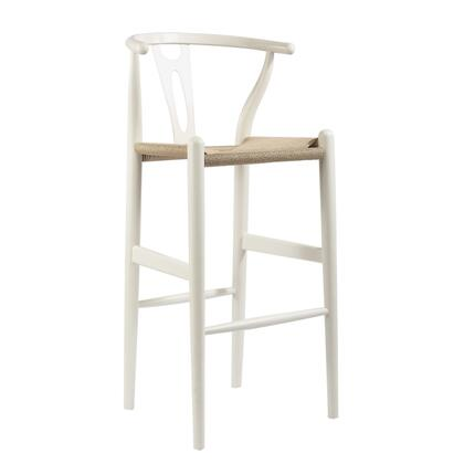 Wholesale Interiors BS541AWHITE Bar Stool, BS 541A White
