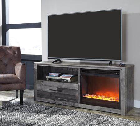 Signature Design by Ashley Derekson W20068F02 52 in. and Up TV Stand Gray, Main Image