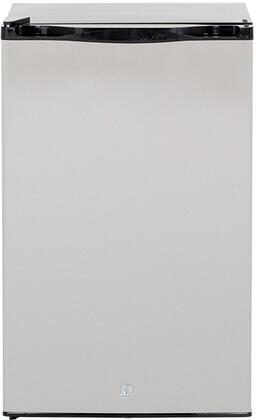 "SSRFR-21S-R 21"" Compact Right to Left Opening Refrigerator with 4.5 cu. ft. Capacity Reversible Door 304 Stainless Steel Door Construction Halogen"