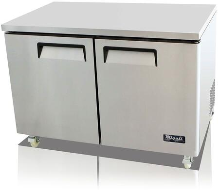 Migali  CU48FHC Commercial Work Top Freezer Stainless Steel, Main Image