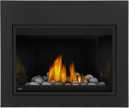 Napoleon Grandville CF BGD36CFNTRSB Fireplace Black, Grey Rocks, Porcelain Reflective Radiant Panel