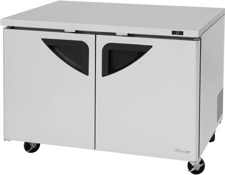 Turbo Air Super Deluxe TUR48SDN Undercounter and Worktop Refrigerator Stainless Steel, TUR48SDN Angled View