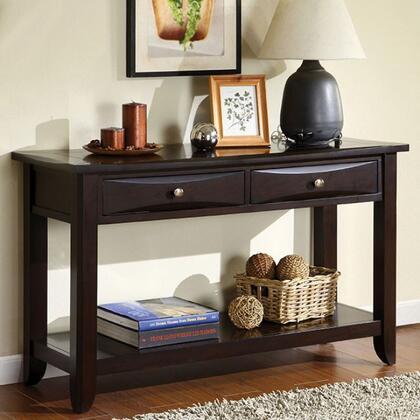 Furniture of America Baldwin CM4265DKS Sofa Table Brown, Main Image