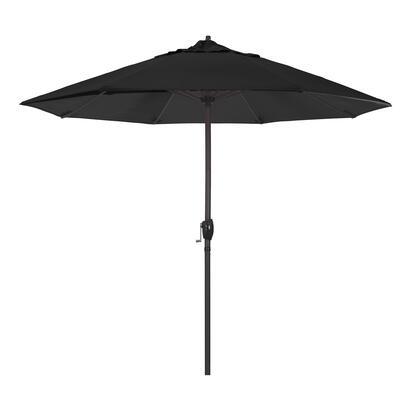Casa Collection ATA908117-5408 9′ Patio Umbrella With Bronze Aluminum Pole Aluminum Ribs Auto Tilt Crank Lift With Sunbrella 1A Black