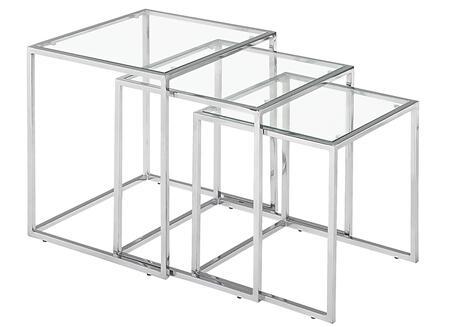 Zuo Pasos 401105 Nesting Table Silver, 401105 1