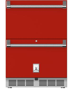 Hestan  GRFR24RD Drawer Refrigerator Red, Drawer Fridge Matador