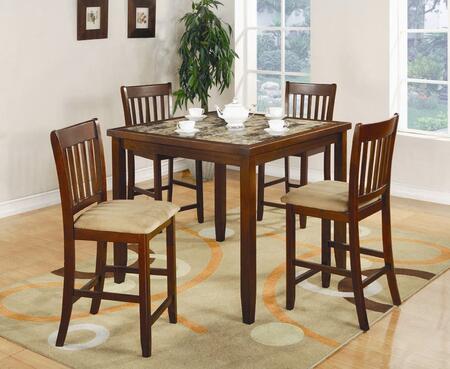Coaster  150154 Dining Room Set Brown, 1