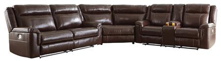 Signature Design by Ashley Wyline 71701157118 Sectional Sofa Brown, Main Image