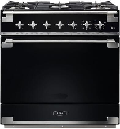AEL36DF-BLK 36″ Elise Gloss Black Dual Fuel Natural Gas Range with 4.5 cu. ft. Capacity  Dual Broiler System  5 Sealed Solid Brass Burners