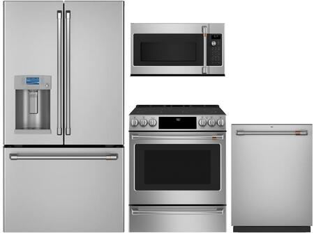 Cafe  1054659 Kitchen Appliance Package Stainless Steel, main image