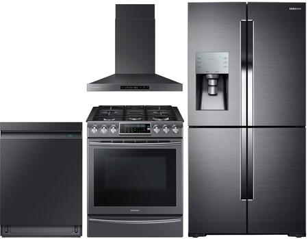 Samsung  1011444 Kitchen Appliance Package Black Stainless Steel, main image