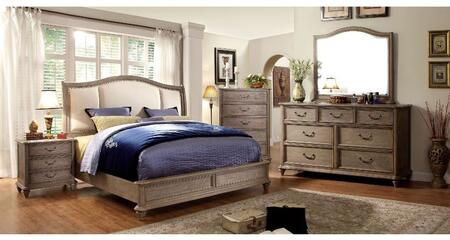 Furniture of America Belgrade II CM7612QBDMCN Bedroom Set Brown, Main Image