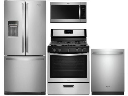 Whirlpool 992060 Kitchen Appliance Package & Bundle Stainless Steel, Main Image
