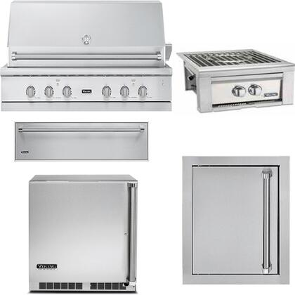 Viking 5-Piece Stainless Steel Outdoor Kitchen Appliance ...