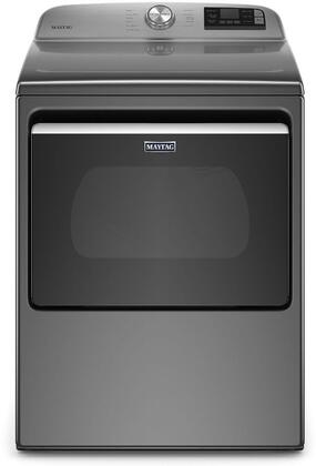 MED6230HC 27″ Metallic Slate Smart Capable Electric Dryer with 7.4 cu. ft. Capacity  Extra Power Button  Advanced Moisture Sensing and Wrinkle