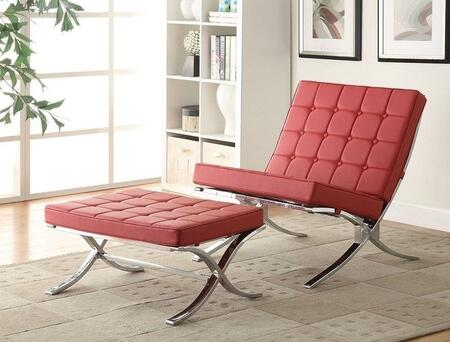 Acme Furniture Elian 96377CO Living Room Set Red, 2 PC Set