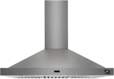 FRHWM5084-30 30″ Siena Chimney Style Wall Mounted Range Hood with 450 CFM  4 Speeds  LED lighting and Baffle Filters in Stainless