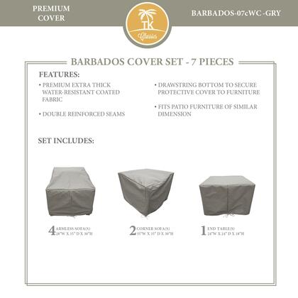 BARBADOS-07cWC-GRY Protective Cover Set  for BARBADOS-07c in
