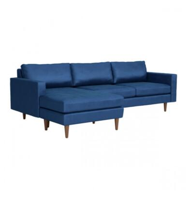 Zuo Kace 101405 Sectional Sofa Blue, 101405 Front