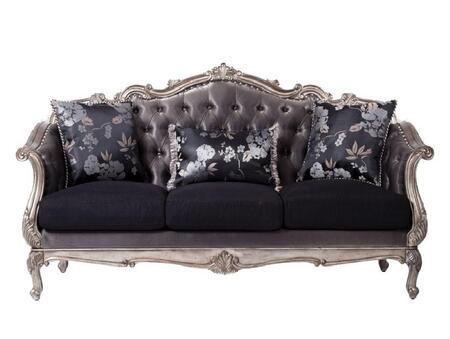 Acme Furniture Chantelle 51540 Stationary Sofa Gray, Sofa