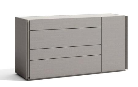 Sintra Collection 17554-D 55″ 4-Drawer Dresser with Concealed Drawer Handles  Blum Hardware and Hand-Crafted in