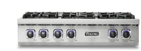 Viking 7 Series VRT7366BSSLP Gas Cooktop Stainless Steel, 1