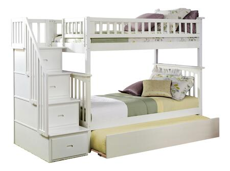 Atlantic Furniture Columbia AB55652 Bed White, AB55652 SILO TR2 30