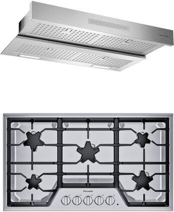 2 Piece Kitchen Appliances Package with SGS365TS 36″ Gas Cooktop and HMDW36WS 36″ Under Cabinet Insert Hood in Stainless