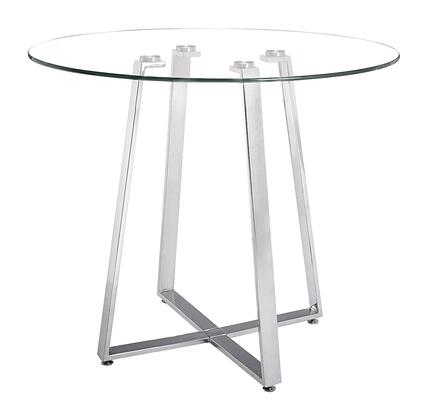 Zuo Lemon Drop 601102 Bar Table Transparent, 601102 Front