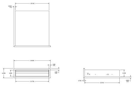 Twin Eagles  TESD241B Storage Drawer Stainless Steel, Diagram