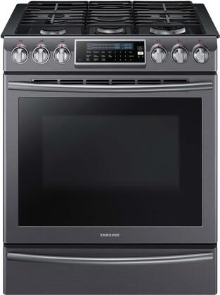 Samsung NX58K9500WG Slide-In Gas Range Black Stainless Steel, Main Image