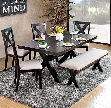 Furniture of America Xanthe CM3172T Dining Room Table Black, main image