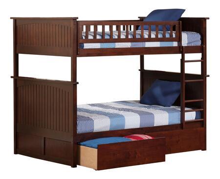 Atlantic Furniture Nantucket AB59544 Bed Brown, AB59544 SILO BD2 30