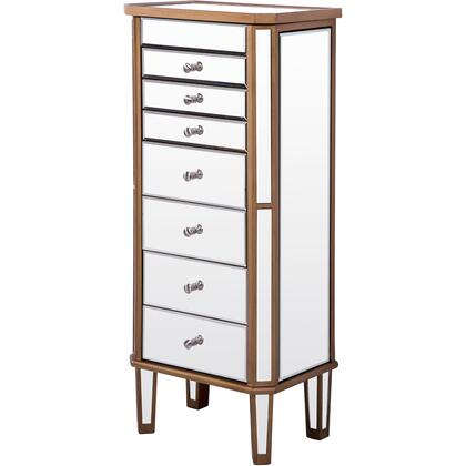 MF6-1103GC 7 Drawer Jewelry Armoire 18″ X 12″ X 41″ In Gold