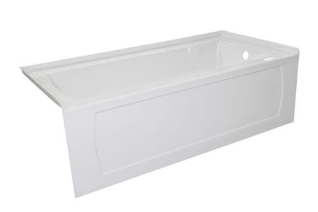 OVO6030SKRWHT 60″ OVO White Acrylic  Bathtub with Decorative Integral Skirt 60″X30″ Right Hand