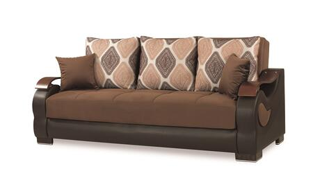 Metroplex Sofabed Brown 87 Inch Sofa
