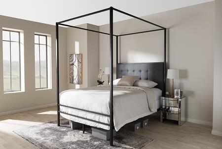 Baxton Studio Eleanor TSELEANORBLACKQUEEN Bed Black, TS Eleanor Black Queen 6