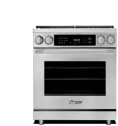 """Dacor Professional HDPR30SNG Freestanding Dual Fuel Range Stainless Steel, HDPR30CLP Heritage 30"""" Dual Fuel Pro Range Main Image"""
