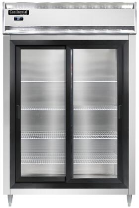 Continental Refrigerator Designer Line D2RNSGD Reach-In Refrigerator Stainless Steel, D2RNSGD Reach-In Refrigerator