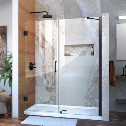 DreamLine  SHDR2059721009 Shower Door , Unidoor Shower Door with Base 12 28D 30P support arm 09 72 WM 11 16