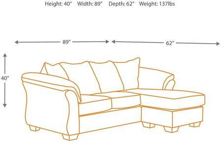 Signature Design By Ashley Fabric Sofa, Ashley Furniture Signature Design Darcy Sofa Chaise