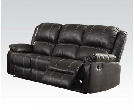 Acme Furniture Zueiel 52285 Motion Sofa Black, Main Image