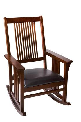 3900C Mission style Adult Rocking chair with Upholstered Seat (Cherry